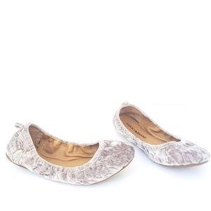Lucky Brand Crushed Velvet Slip On Ballet Flats